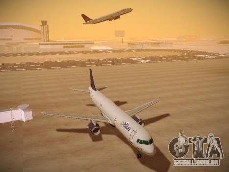 Airbus A321-232 jetBlue Batty Blue para GTA San Andreas vista traseira