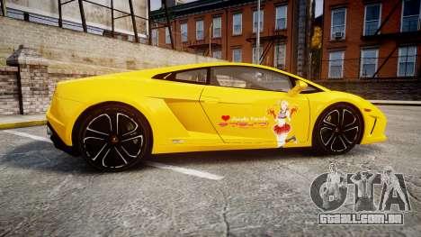 Lamborghini Gallardo 2013 HDD Honoka Kousaka para GTA 4 esquerda vista