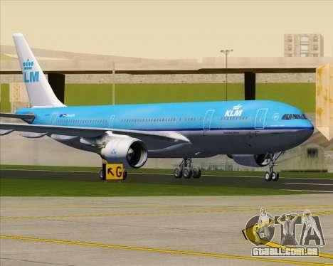 Airbus A330-200 KLM - Royal Dutch Airlines para GTA San Andreas vista inferior