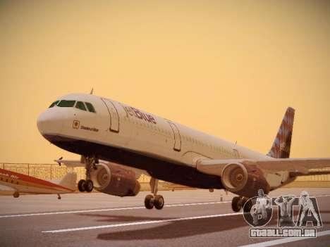 Airbus A321-232 jetBlue Airways para GTA San Andreas esquerda vista