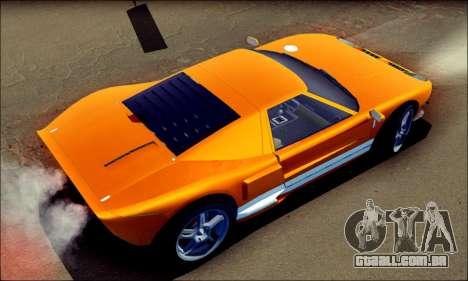 Vapid Bullet GTA 5 para GTA San Andreas traseira esquerda vista