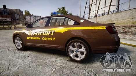 Ford Taurus Sheriff [ELS] Virginia para GTA 4 esquerda vista