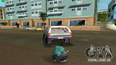 Ford Bronco 1985 para GTA Vice City vista traseira esquerda
