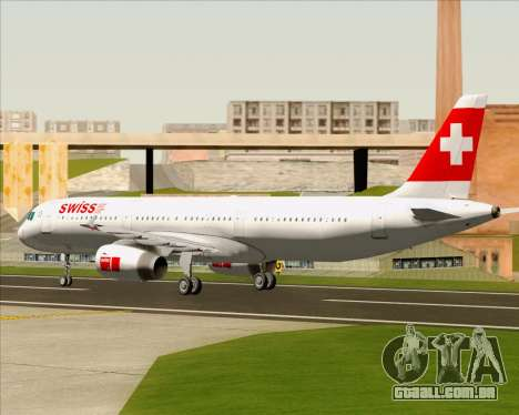 Airbus A321-200 Swiss International Air Lines para GTA San Andreas vista traseira