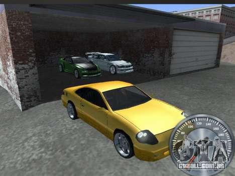 Clássico metal velocímetro para GTA San Andreas por diante tela