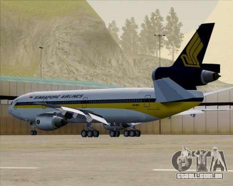 McDonnell Douglas DC-10-30 Singapore Airlines para GTA San Andreas