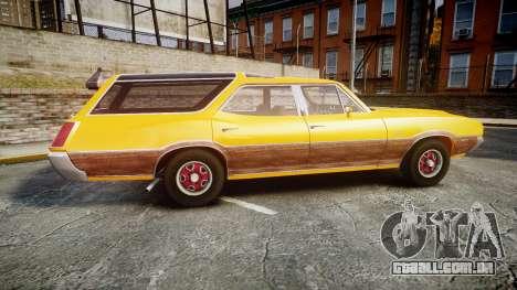 Oldsmobile Vista Cruiser 1972 Rims2 Tree3 para GTA 4 esquerda vista