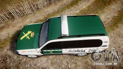 Toyota Land Cruiser Guardia Civil Cops [ELS] para GTA 4 vista direita