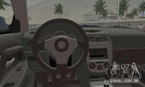 Subaru Impreza WRX STi para GTA San Andreas traseira esquerda vista