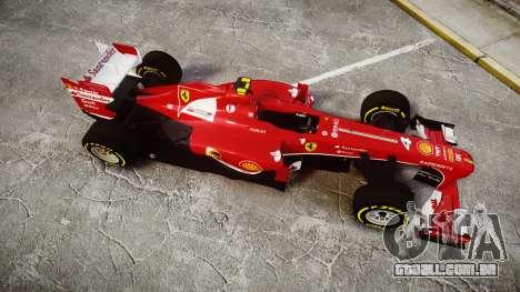 Ferrari F138 v2.0 [RIV] Massa TSD para GTA 4 vista direita