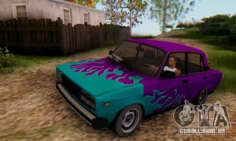 VAZ 2107 Chama Azul para GTA San Andreas