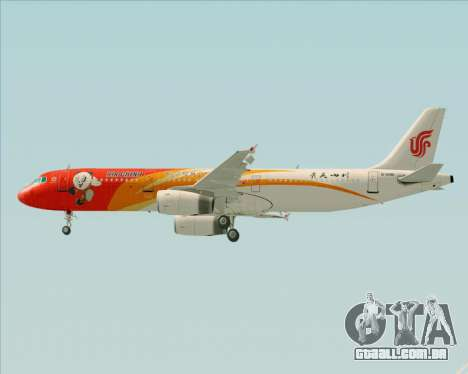 Airbus A321-200 Air China (Beautiful Sichuan) para o motor de GTA San Andreas