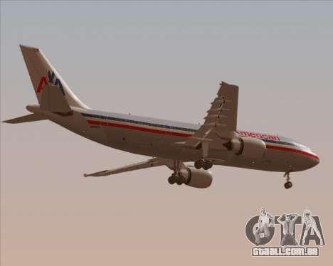 Airbus A300-600 American Airlines para GTA San Andreas vista inferior