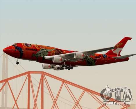 Boeing 747-400ER Qantas (Wunala Dreaming) para GTA San Andreas traseira esquerda vista