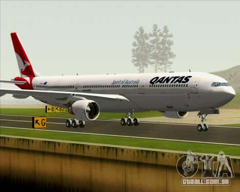 Airbus A330-300 Qantas (New Colors) para GTA San Andreas vista inferior