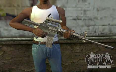 M4 from Hitman 2 para GTA San Andreas terceira tela