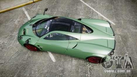 Pagani Huayra 2013 para GTA 4 vista direita