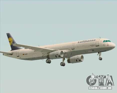 Airbus A321-200 Lufthansa para vista lateral GTA San Andreas