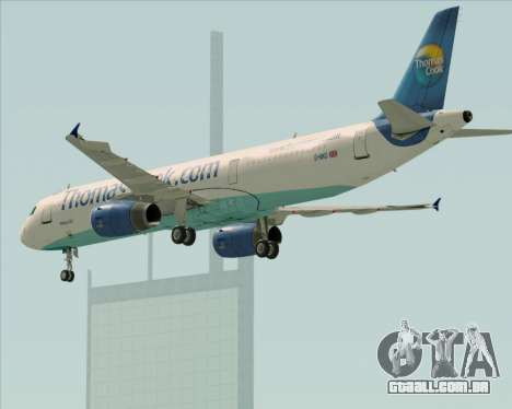 Airbus A321-200 Thomas Cook Airlines para GTA San Andreas vista inferior