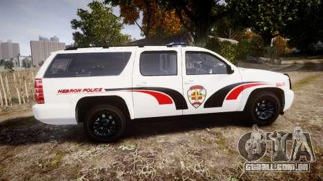Chevrolet Suburban 2008 Hebron Police [ELS] Blue para GTA 4 esquerda vista