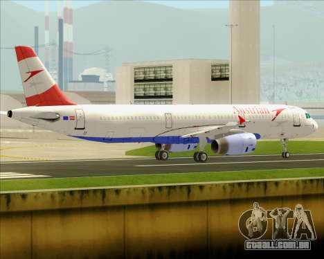 Airbus A321-200 Austrian Airlines para GTA San Andreas vista traseira