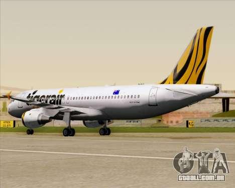 Airbus A320-200 Tigerair Australia para vista lateral GTA San Andreas