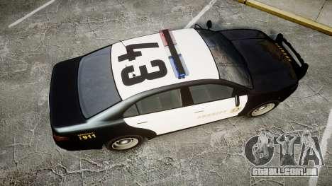 GTA V Vapid Interceptor LSS Black [ELS] para GTA 4 vista direita