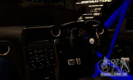 Nissan GTR Tuning para GTA San Andreas traseira esquerda vista