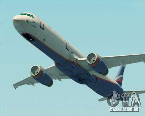 Airbus A321-200 Aeroflot - Russian Airlines para GTA San Andreas vista interior