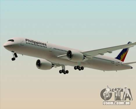 Airbus A350-900 Philippine Airlines para GTA San Andreas esquerda vista