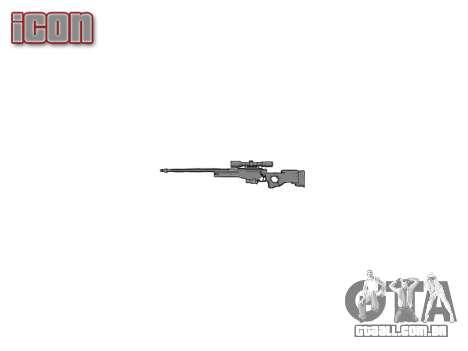 Rifle de precisão L96A1 Magnum para GTA 4 terceira tela
