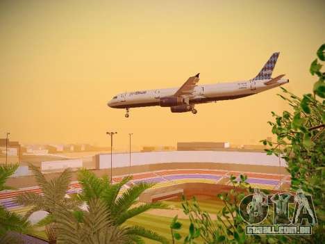 Airbus A321-232 jetBlue Airways para GTA San Andreas vista superior