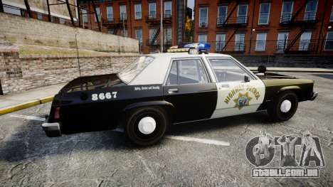 Ford LTD Crown Victoria 1987 Police CHP1 [ELS] para GTA 4 esquerda vista