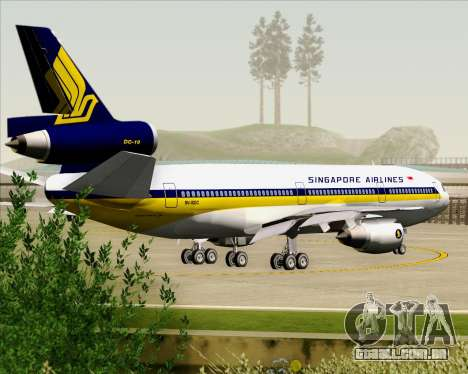 McDonnell Douglas DC-10-30 Singapore Airlines para as rodas de GTA San Andreas