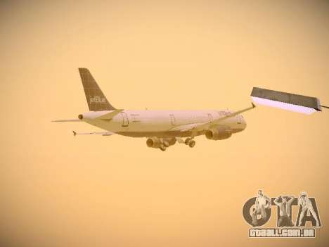 Airbus A321-232 jetBlue Batty Blue para GTA San Andreas vista inferior