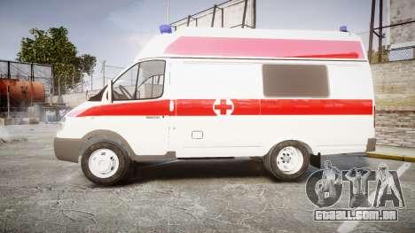 GÁS-32214 Ambulância para GTA 4 esquerda vista