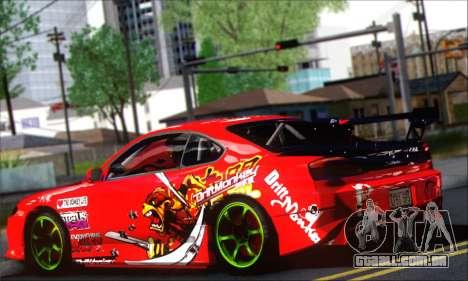 Nissan Silvia S15 Team Drift Monkey para GTA San Andreas traseira esquerda vista