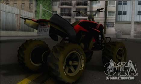 Quad from GTA 5 para GTA San Andreas esquerda vista
