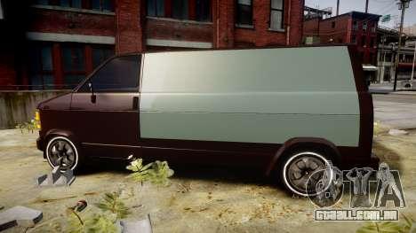 Declasse Burrito Custom para GTA 4 esquerda vista