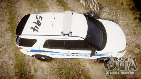 Ford Explorer 2013 PS Police [ELS] para GTA 4 vista direita