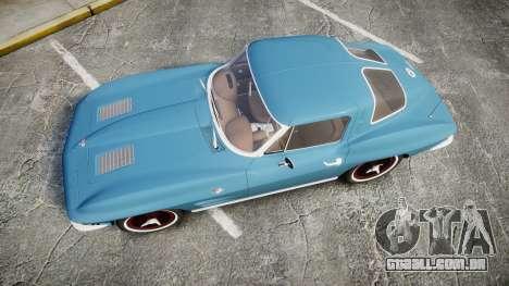 Chevrolet Corvette Stingray 1963 v2.0 para GTA 4 vista direita