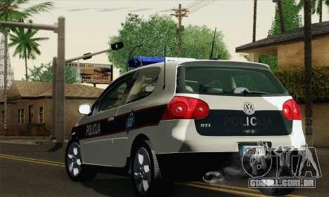 Volkswagen Golf V para GTA San Andreas esquerda vista