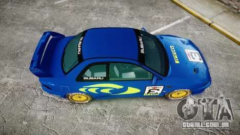 Subaru Impreza WRC 1998 World Rally v3.0 Green para GTA 4 vista direita