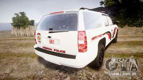 Chevrolet Suburban 2008 Hebron Police [ELS] Red para GTA 4 traseira esquerda vista