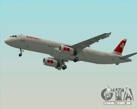 Airbus A321-200 Swiss International Air Lines para o motor de GTA San Andreas