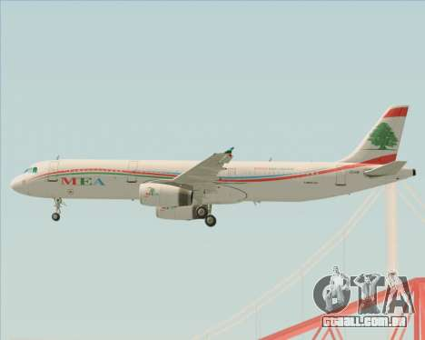 Airbus A321-200 Middle East Airlines (MEA) para as rodas de GTA San Andreas