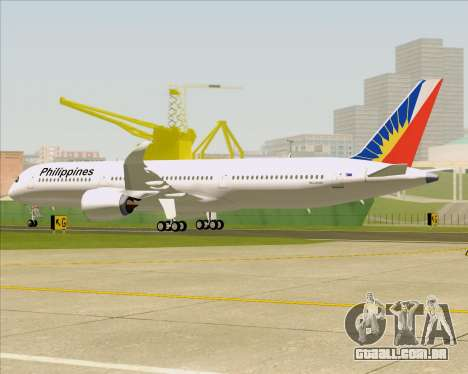 Airbus A350-900 Philippine Airlines para as rodas de GTA San Andreas