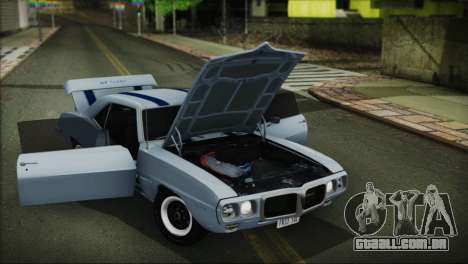 Pontiac Firebird Trans Am Coupe (2337) 1969 para GTA San Andreas vista interior