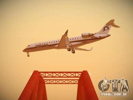 Bombardier CRJ-700 Horizon Air para GTA San Andreas vista interior