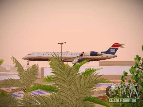 Bombardier CRJ-700 US Airways Express para GTA San Andreas vista interior